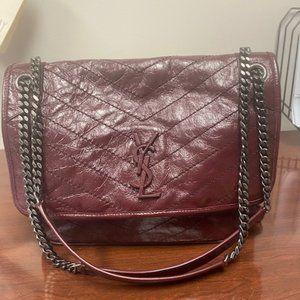 YSL Niki Large Vintage Leather Shoulder Bag